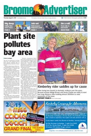'Plant site pollutes bay' Broome Advertiser, Aug 2015 »